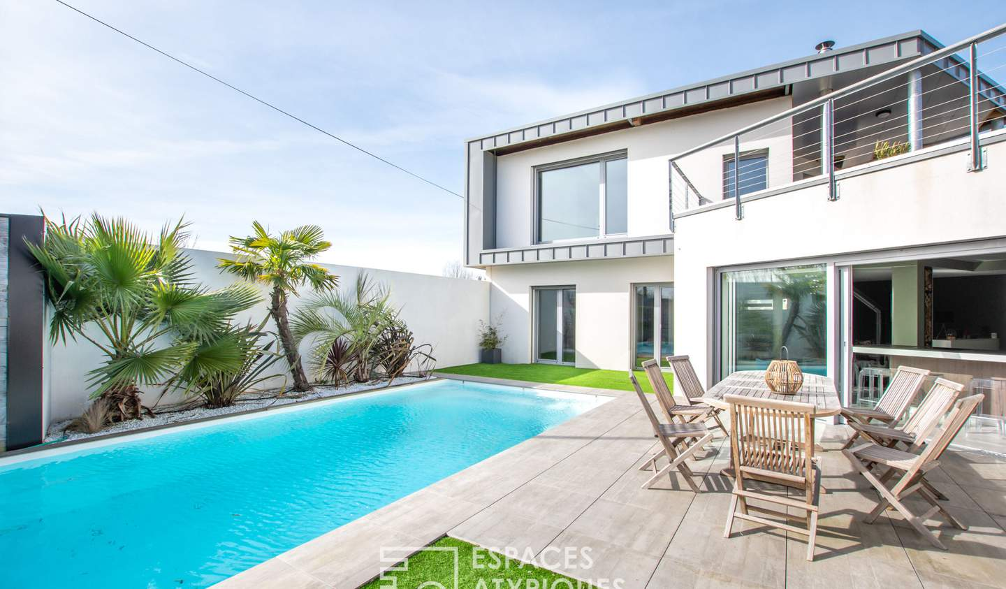 House with pool Lucon