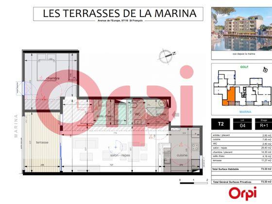 Vente appartement 2 pièces 72,32 m2