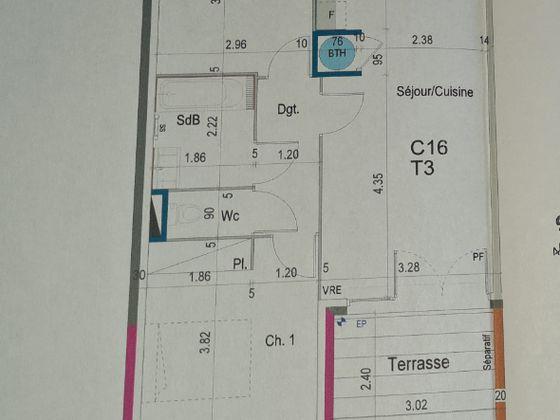Vente appartement 3 pièces 55,54 m2