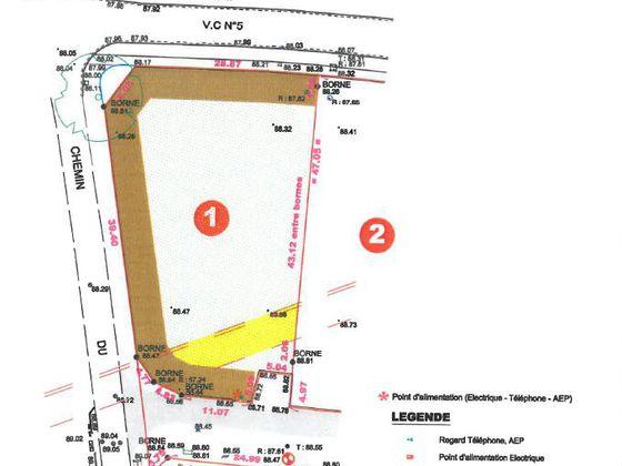 Vente terrain 1445 m2