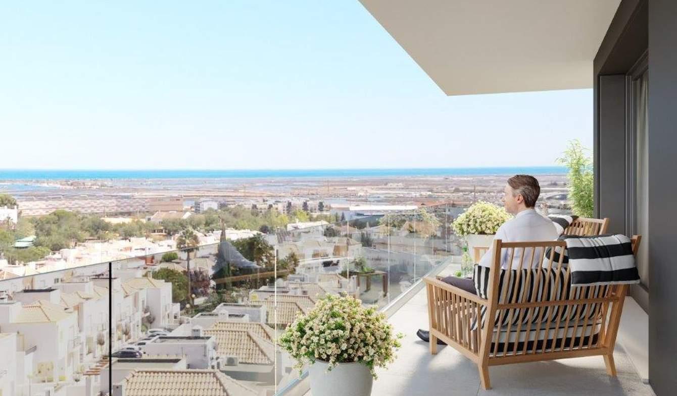 Appartement contemporain avec terrasse en bord de mer Tavira