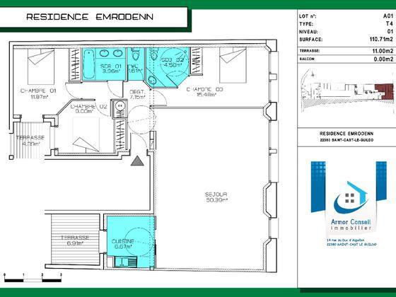 Vente appartement 4 pièces 110,71 m2
