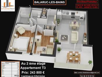Appartement 3 pièces 58,75 m2