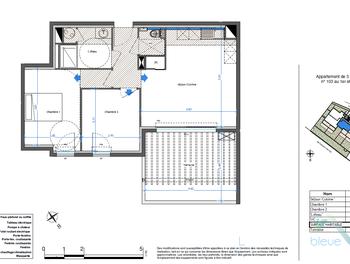Appartement 3 pièces 54,35 m2