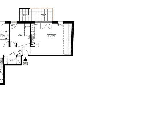 Vente appartement 3 pièces 72,13 m2