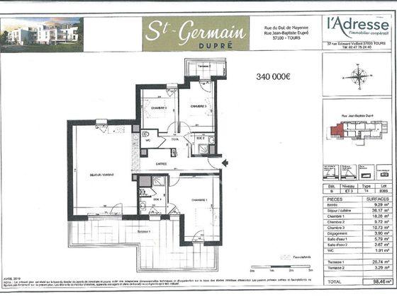 Vente appartement 4 pièces 98,46 m2