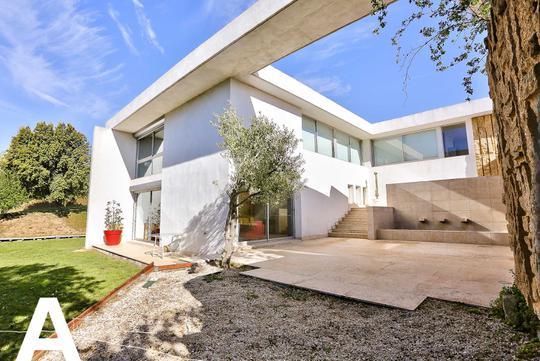 Contemporary house with garden