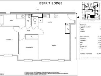 Appartement 3 pièces 65,45 m2