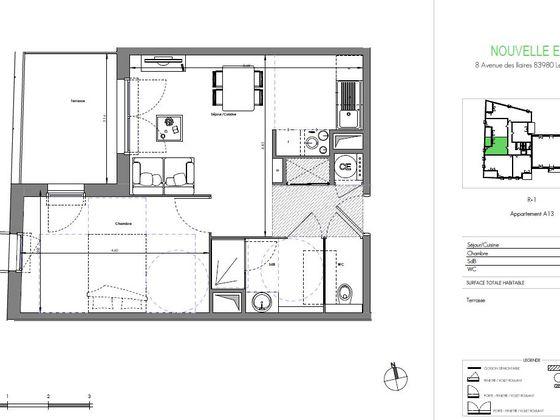 Vente appartement 2 pièces 41,16 m2