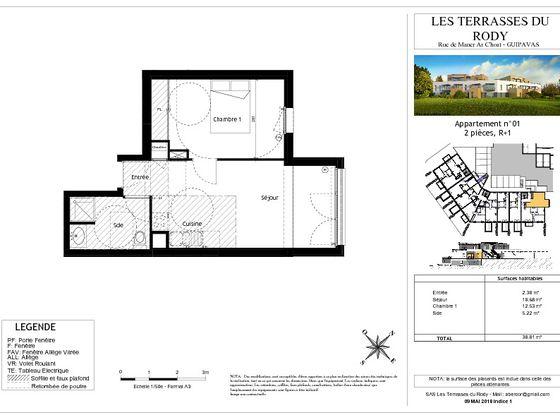 Vente appartement 2 pièces 38,81 m2