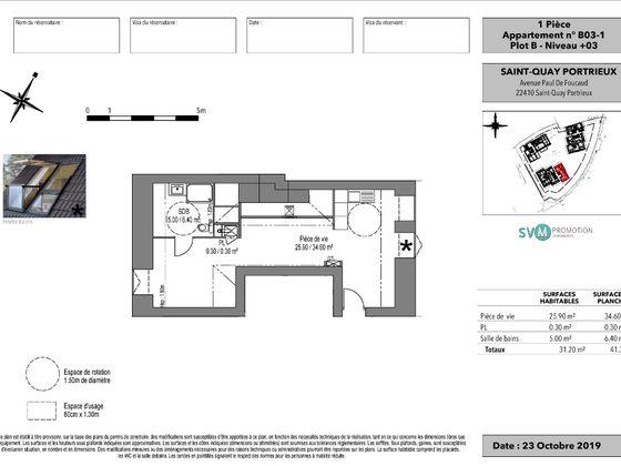 Vente studio 31,2 m2