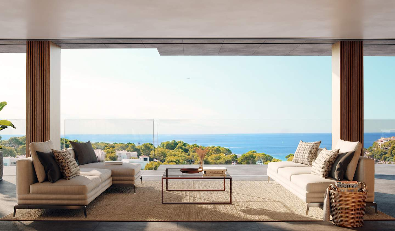 Appartement contemporain avec terrasse et piscine Bendinat