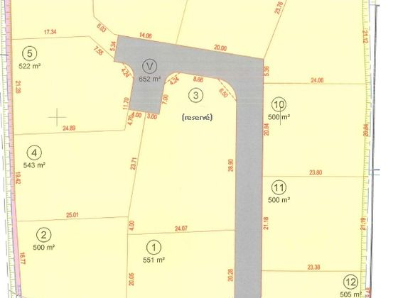 Vente terrain 543 m2