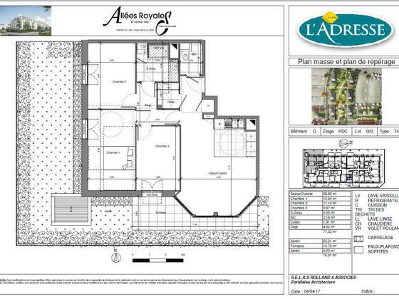 Vente appartement 4 pièces 77,02 m2