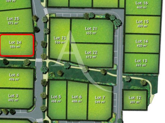Vente terrain 586 m2