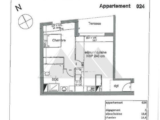 Vente appartement 2 pièces 50,9 m2
