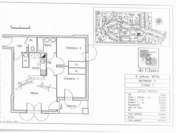 Appartement 3 pièces 58,8 m2