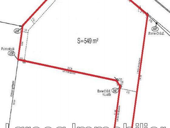 Vente terrain 549 m2
