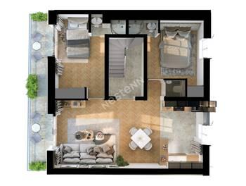 Appartement 3 pièces 51,6 m2