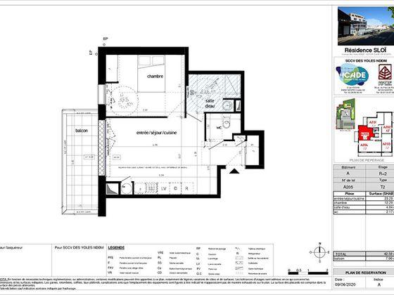 Vente appartement 2 pièces 42,59 m2