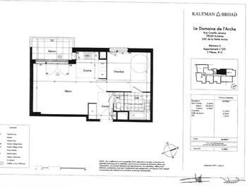 Appartement 2 pièces 44,8 m2