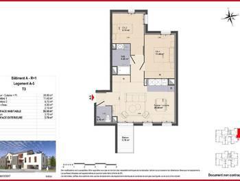 Appartement 3 pièces 55,5 m2