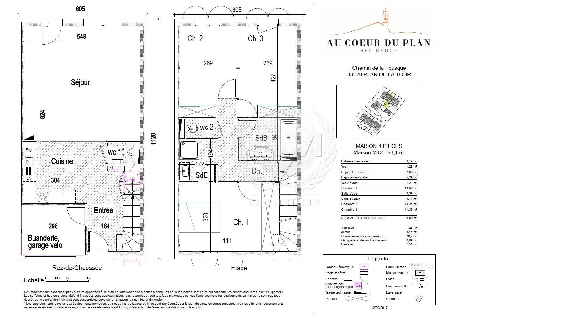 plan de maison 4 pièces