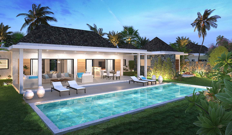 Villa avec piscine et terrasse Tamarin