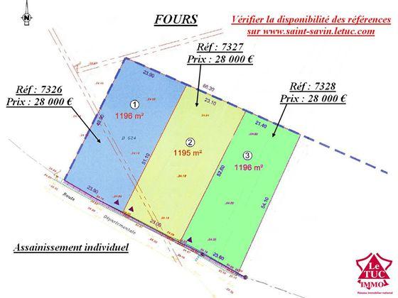 Vente terrain 1196 m2