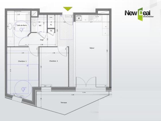 Vente appartement 3 pièces 59,02 m2