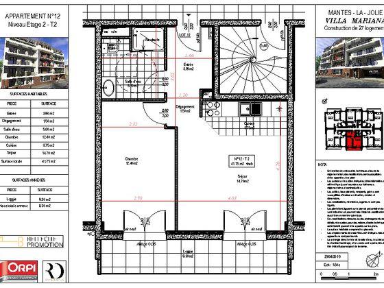 Vente appartement 2 pièces 41,75 m2