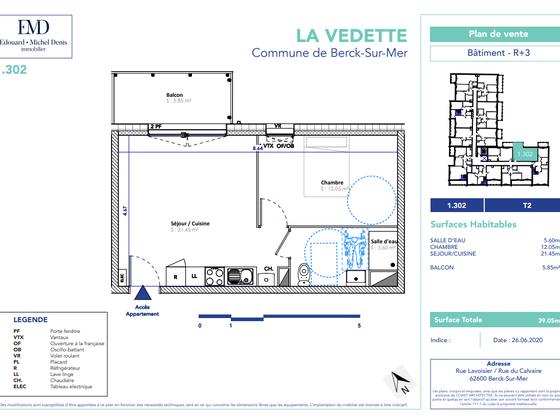 Vente appartement 2 pièces 39,05 m2