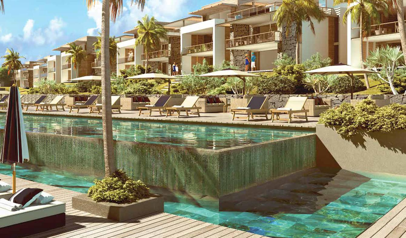 Appartement avec piscine en bord de mer Rivière du Rempart