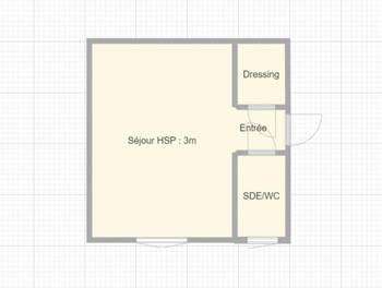 Studio 16,8 m2