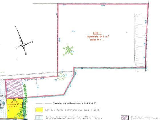 Vente terrain 840 m2
