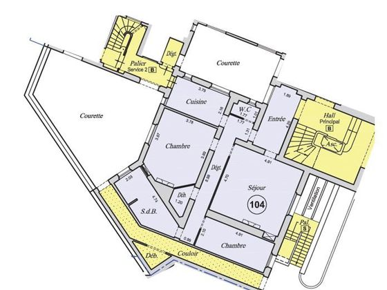 Vente appartement 4 pièces 89,9 m2