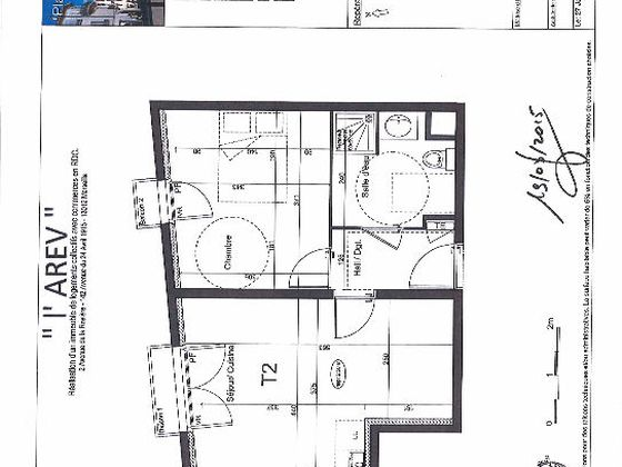 Location appartement 2 pièces 39,88 m2