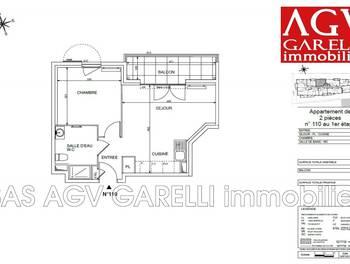 Appartement 2 pièces 40,69 m2
