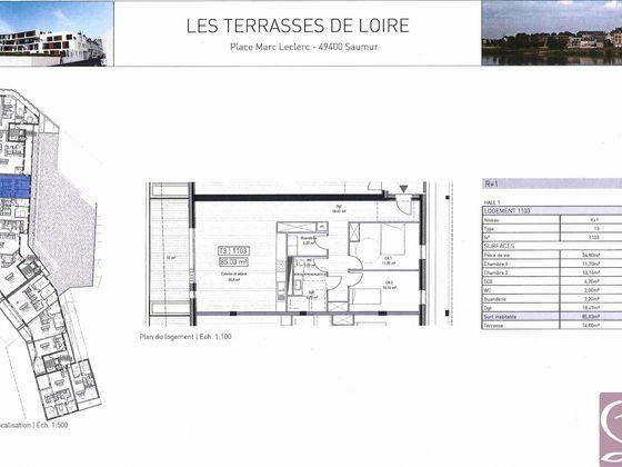 Vente appartement 3 pièces 85,03 m2