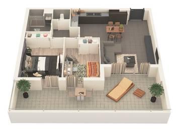 Appartement 3 pièces 66,44 m2