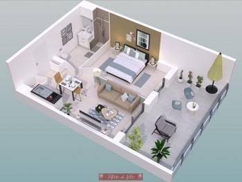 Studio 32,11 m2