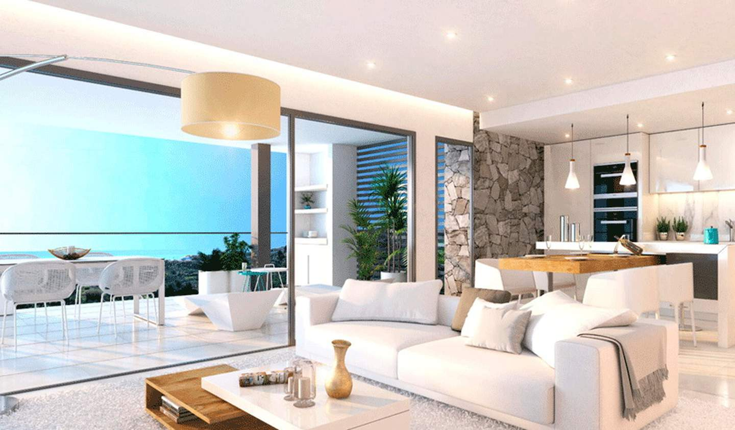 Contemporary apartment with terrace and pool Tamarin