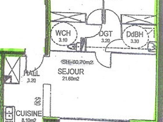 Vente appartement 3 pièces 60,15 m2