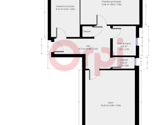 Vente appartement 3 pièces 57,2 m2