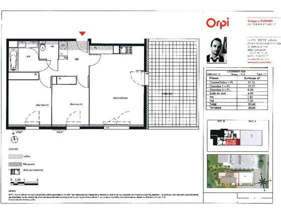 Vente appartement 3 pièces 57,55 m2