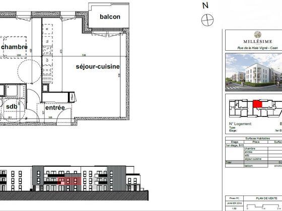 Vente appartement 3 pièces 69,83 m2