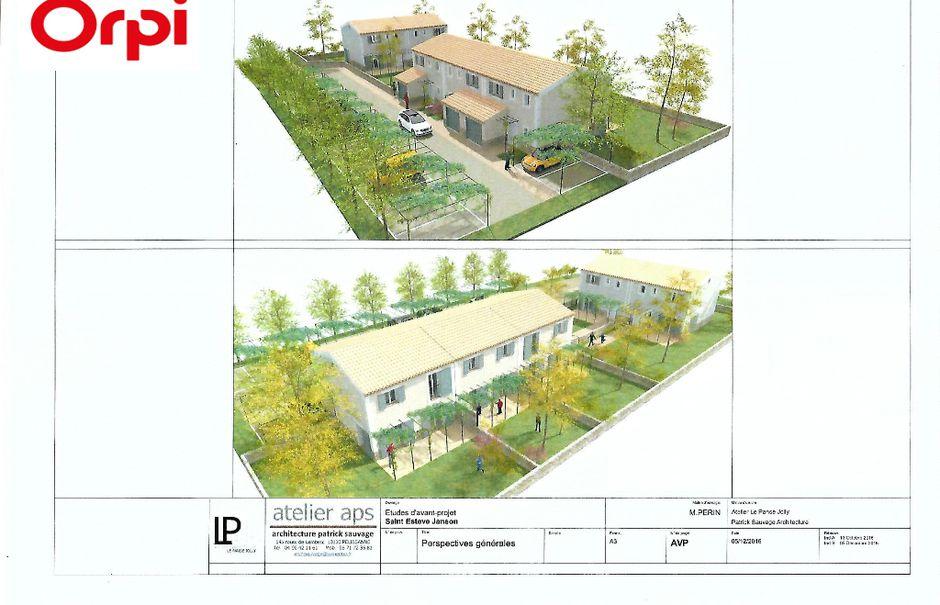 Vente terrain  250 m² à Saint-Estève-Janson (13610), 100 000 €