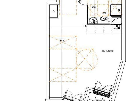 Vente studio 36,02 m2