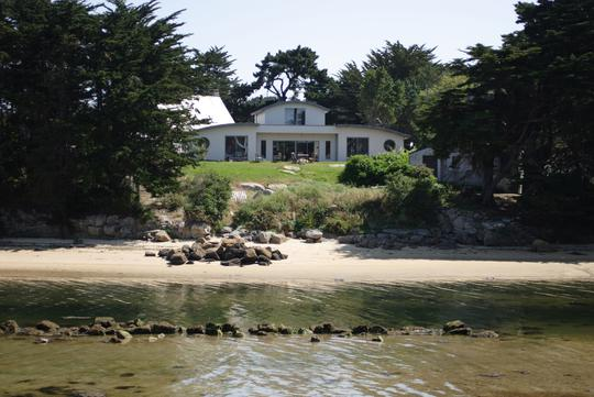 Seaside house and garden