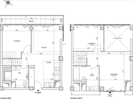 Vente appartement 3 pièces 85,7 m2